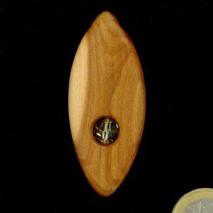 Produktbild Anhänger Zwetschge mit Kristallglasperle - Unikat Nr. 405