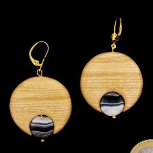 Produktbild Ohrringe Esche mit Sardonyx - Unikat Nr. 135