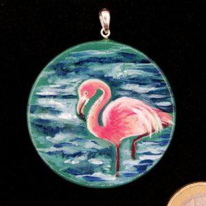 """Produktbild Anhänger """"Krafttier Flamingo"""" - Unikat Nr. 222"""