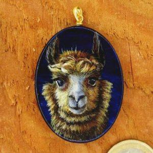 Produktbild Amulett Krafttier Alpaka - Unikat Nr. 230