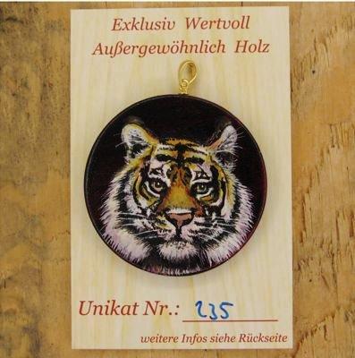 Galeriebild Unikats-Karte Amulett Krafttier Bengalischer Tiger - Unikat Nr. 235