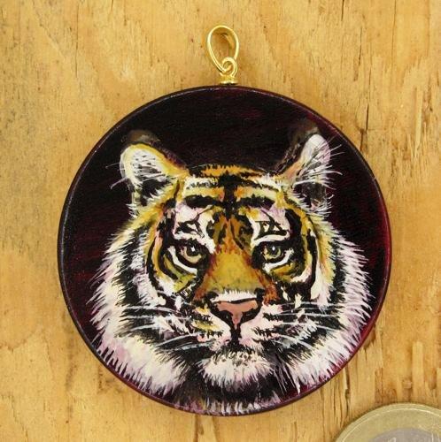 Produktbild Amulett Krafttier Bengalischer Tiger - Unikat Nr. 235