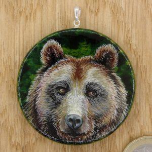 """Produktbild Amulett """"Karfttier Bär"""" - Unikat Nr. 238"""
